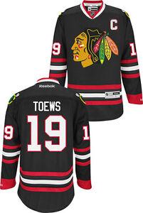d8170ed1 Image is loading Chicago-Blackhawks-Jonathan-Toews-19-Black-Premier-Jersey-
