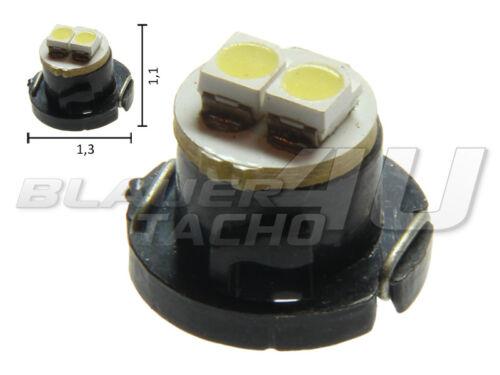 1x 2 SMD PLCC2 LED T4.7 in white instrument lighting Speedo light speedometer