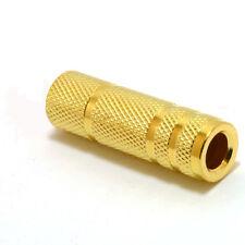Or plaquée Coupleur Adaptateur Jack 3.5mm stéreo Femelle vers Femelle Gold