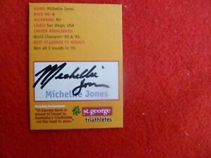 AUSSIE-TRIATHLETE-MICHELLIE-JONES-HAND-SIGNED-ST-GEORGE-TRIATHLON-CARD