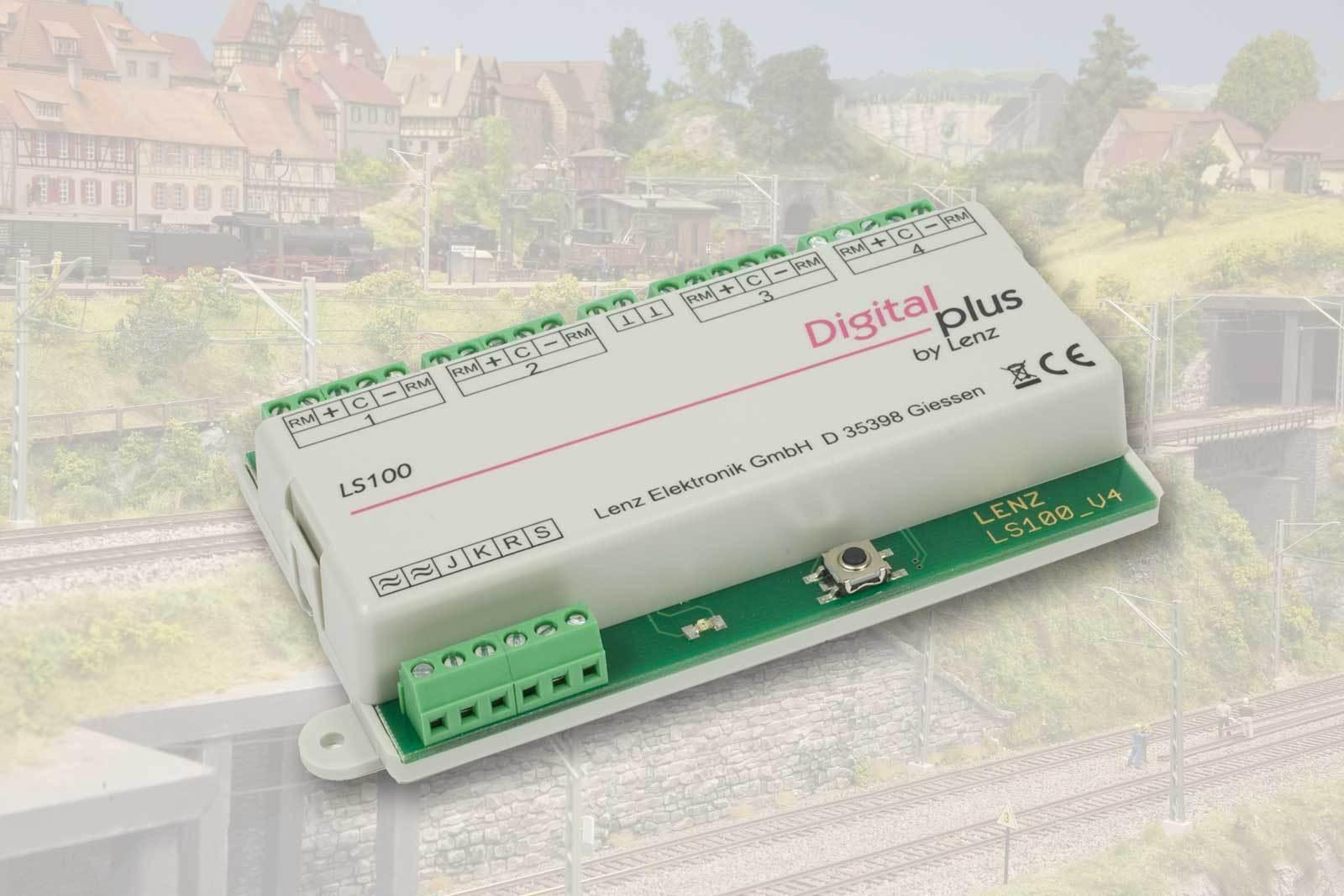 Lenz 11100 ls100 del circuito destinatario 4 veces con punto de recuento