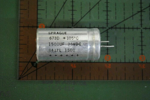 SPRAGUE RADIAL CAPACITOR 1500uf 25v 673D158H025HJ 1500mfd 25VDC 105/'  2pcs