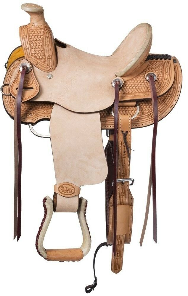 12 Inch Youth Walburg Wade  Hard Seat Western Saddle - Light Oil-Roughout Leather  new listing