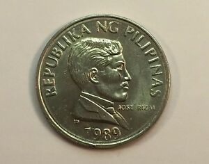 Philippines 1 Piso coin 1989