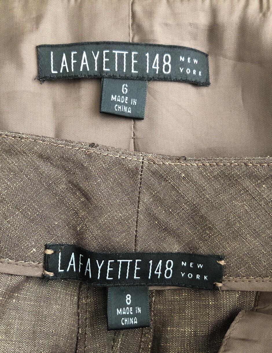 Lafayette 148 New Linen/Wool Blend Pant Suit Size… - image 11