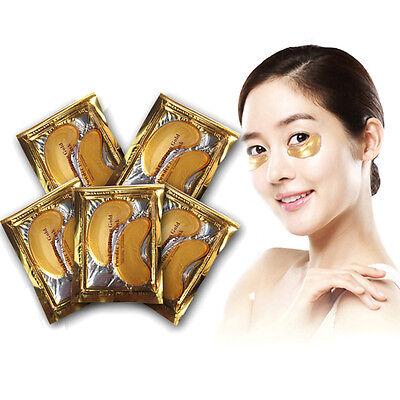 10pcs Gold Crystal collagen Eye Mask Hotsale eye patches 10pcs=5 pack