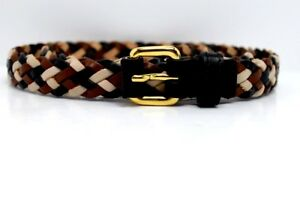 Tara Jarmon Paris Original Skinny Braided Womens Leather Belt Size S