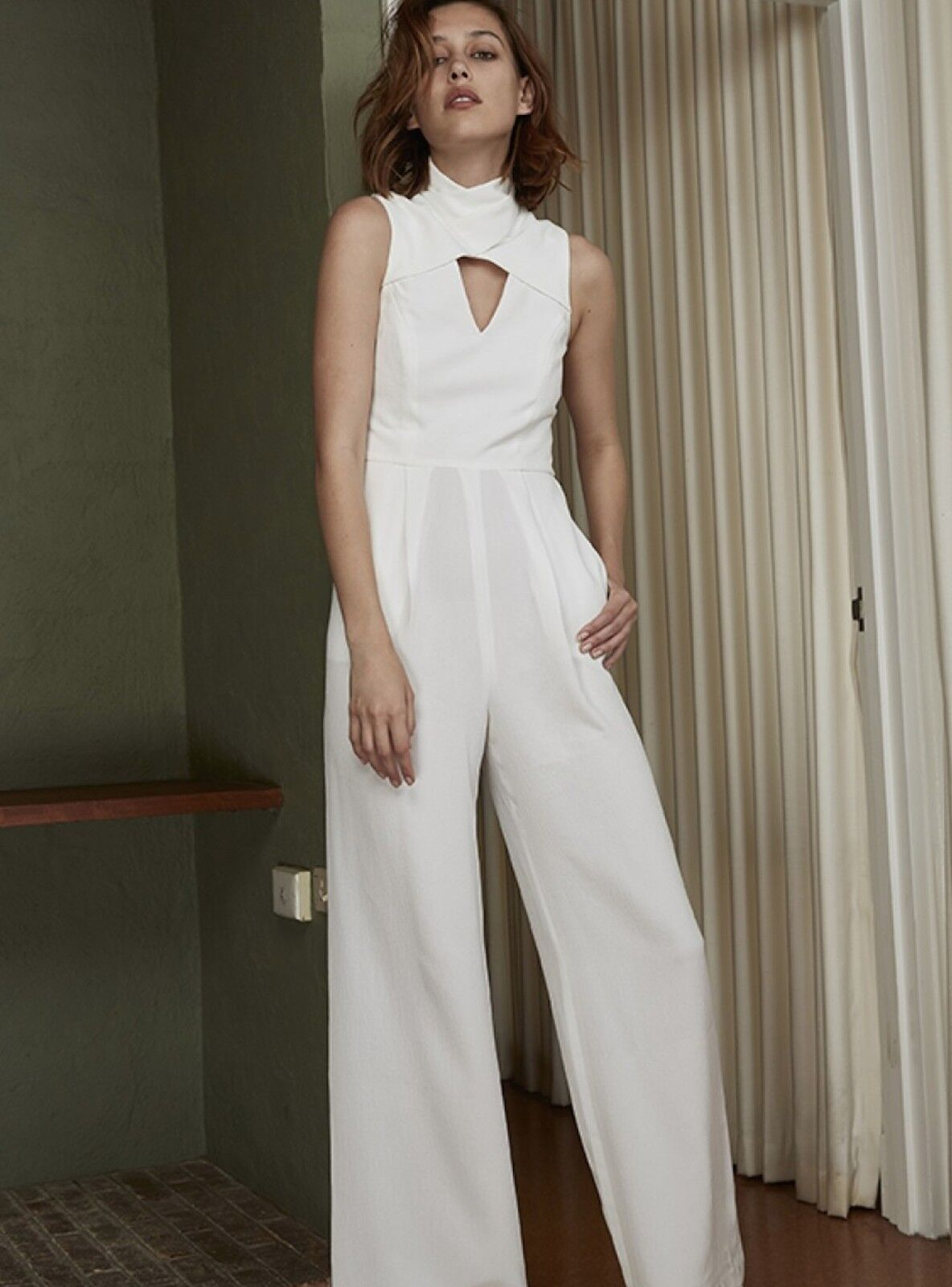 C MEO COLLECTIVE HAUNTING FEELINGS JUMPSUIT Ivory Sz M  220 NWT