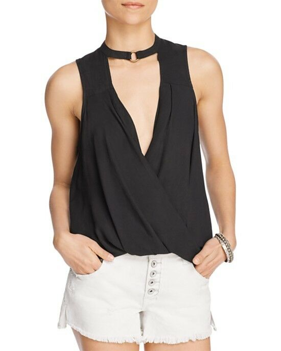 NWT Free People So Fine Faux-Wrap Top Retail