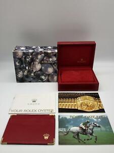Rolex-Genuine-Datejust-69173-watch-box-case-14-00-02-Booklet-Card-case-0505014