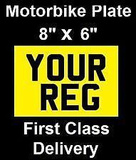8x6 number plate motorbike motor cycle bike show plate gsxr600