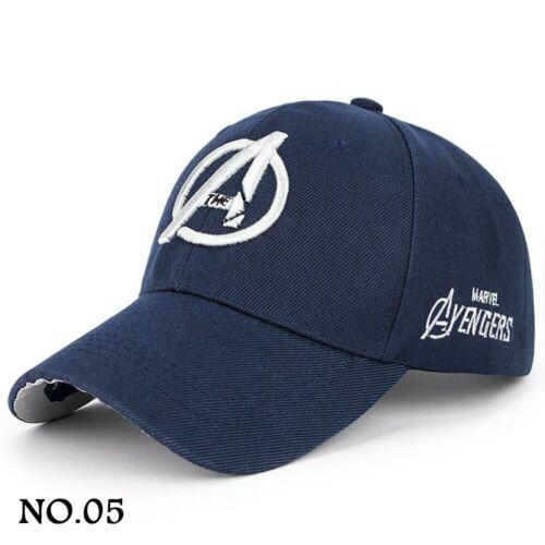 Nouveau Hommes Femmes Marvel Avengers Logo Broderie Baseball Hat Outdoor Snapback Caps