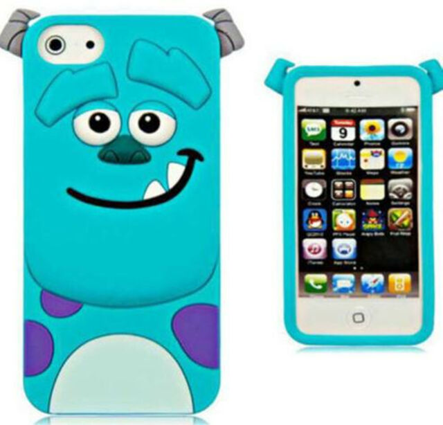 3D Cute lovely Cartoon Sulley silicon Gel Cover Case Skin for various Cell phone