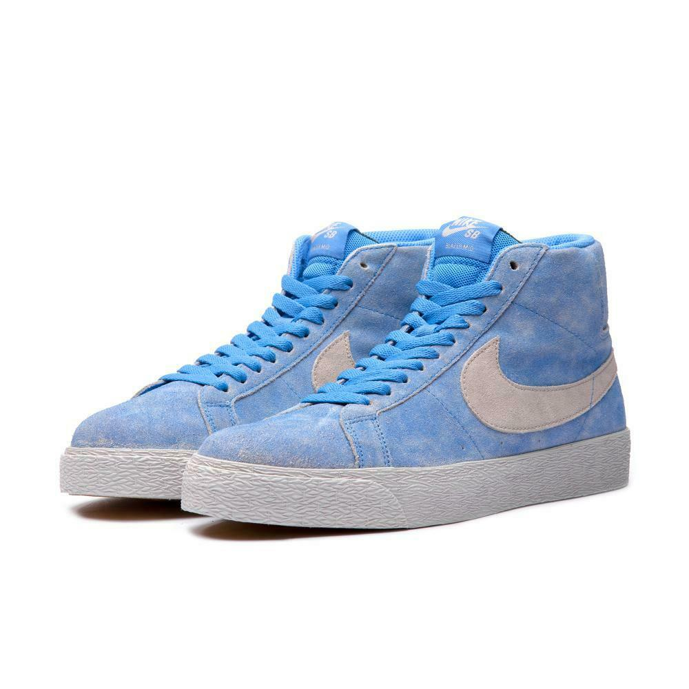 2018 Nike SB Zoom Blazer mid taille 8 Lance Mountain bleu lumière Bone Gum 864349-406