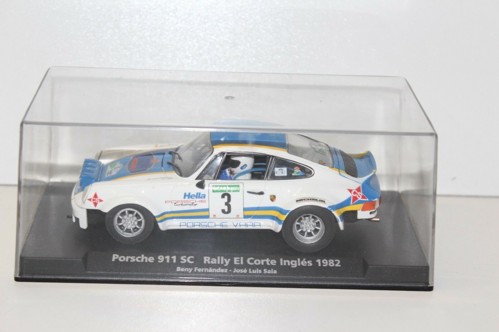 Voiture Fly Car Porsche 911 SC Rally El Corte Ingles 1982