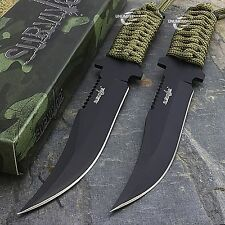 """2 x 7.5"""" TACTICAL COMBAT BOWIE FIXED BLADE HUNTING KNIFE Military Survival"""