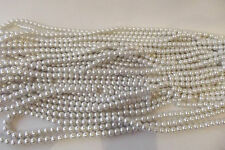 100+ pcs x Glass Pearl 8mm Round Beads: #95A Soft White