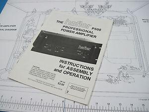 nos hafler p500 professional power amplifier manual original ebay. Black Bedroom Furniture Sets. Home Design Ideas