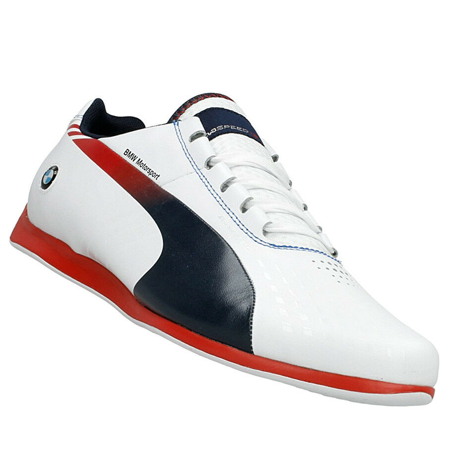 Puma BMW Ms Evo Speed Speed Speed 1.3 Ultra Shoes Motorsport Men White Shoes Leather Cat 5214d1
