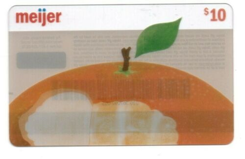 Meijer Apple With Bite Out Of It Gift Card No $ Value Collectible