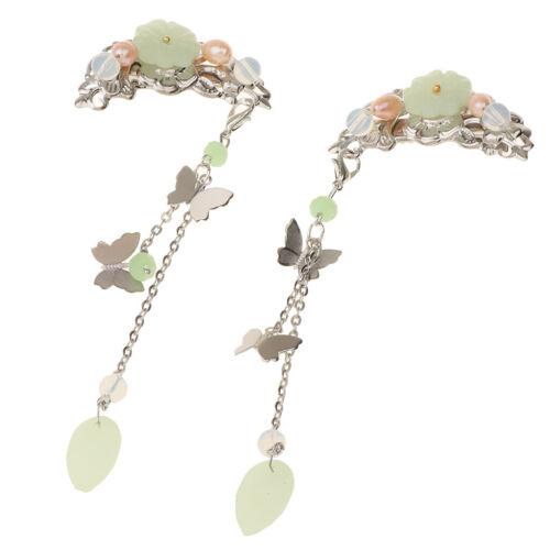 2 Stücke Alligator Haarspange Haarnadel Chinesischen Cosplay Schmetterling
