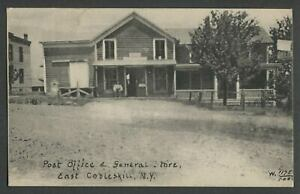 East-Cobleskill-Schoharie-Co-NY-Rare-1910s-Postcard-POST-OFFICE-amp-GENERAL-STORE