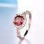 1-6ct-Cushion-Cut-Red-Garnet-Engagement-Ring-Diamond-Halo-14k-Rose-Gold-Finish thumbnail 5