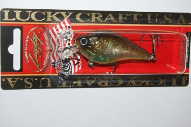 """Lucky Craft LC 1.5 2 2//5/"""" 1//2oz Bass Crankbait Squarebill Flake Striped Gill for sale online"""