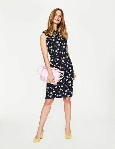 Boden Ladies Martha Dress NAVY COTTON BRAND NEW W0145 SIZE UK 8R