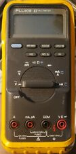 Yellow Fluke 83 Digital Backlight Multimeter No Leads For Parts Only Fast Ship