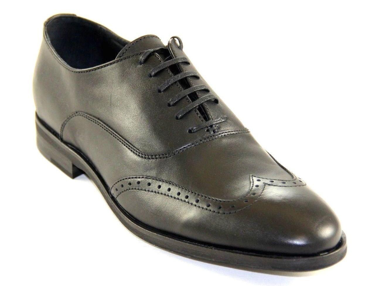 economico e di alta qualità Bacco Bucci Uomo Oxford Wing Tip nero nero nero Leather Dress scarpe Style Perkins  acquisto limitato