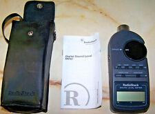 Radio Shack Digital Sound Level Meter 33 2055 With Case Amp Instructions