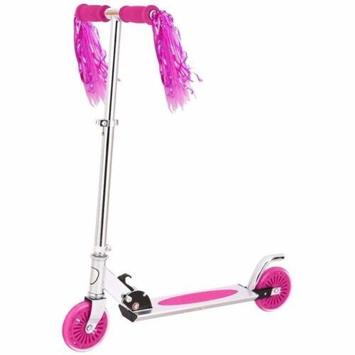 2Pcs* Kid Bicycle Bike Handlebar Scooter Streamer Sparkle Tassel Ribbon Rose #FA