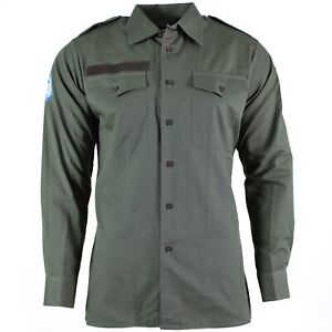 Genuine-autrichien-Armee-Shirt-OD-olive-militaire-combat-a-manches-longues-Tropic-EDR-New