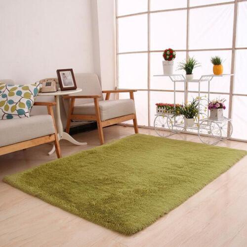 Fluffy Rugs Non-Skid Shaggy Area Rug Dining Room Carpet Floor Mat Bedroom Supply