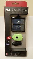 BLACKBURN FLEA led 2.0 USB + SOLAR RECHARGEABLE BIKE FRONT LIGHT