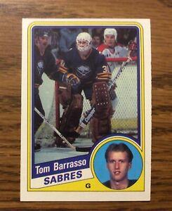 1984 O-Pee-Chee #18 TOM BARRASSO Rookie Card OPC Buffalo Sabres