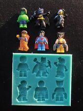 Silicone Mould LEGO MOVIE CHARACTERS Sugarcraft Cake Decorating Fondant / fimo