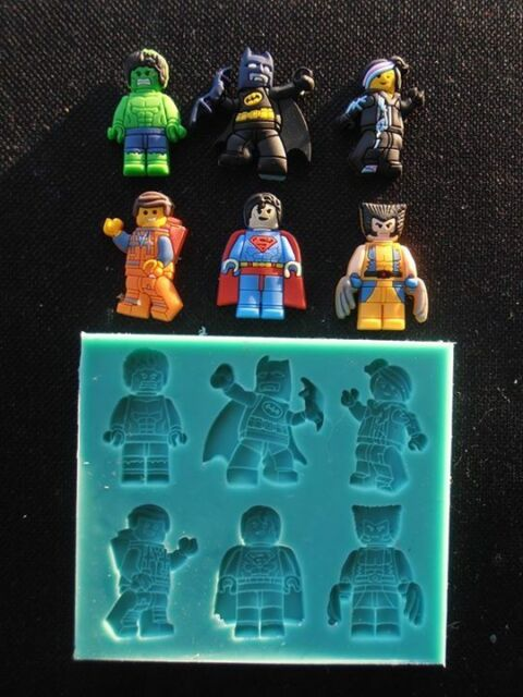 Silicone Mould LEGO MOVIE CHARACTERS Sugarcraft Cake Decorating Fondant / fimo