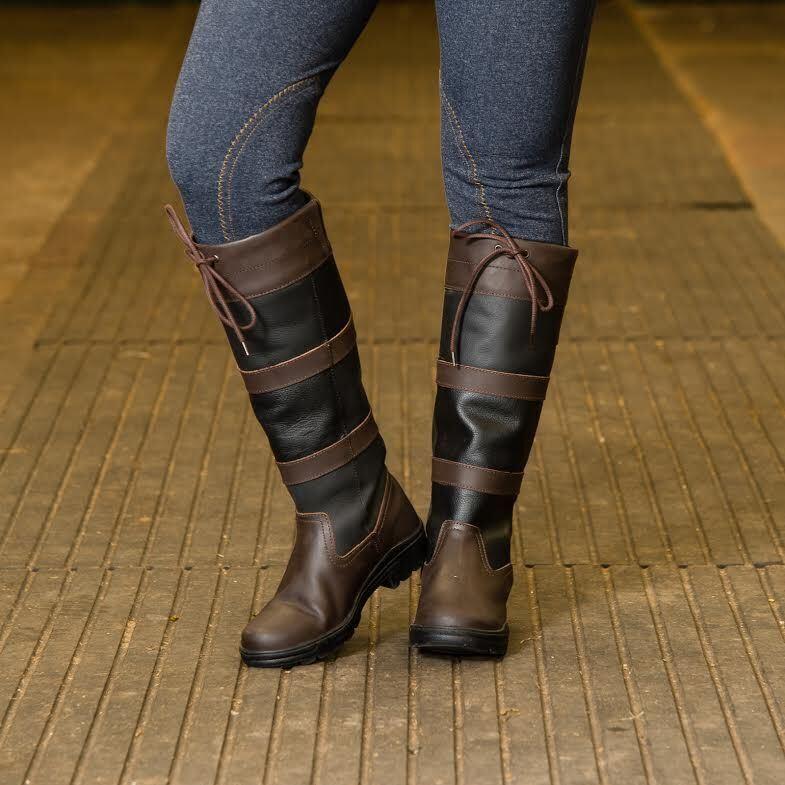 JOY RIDER nuovo resistente all'acqua Equestre Equitazione Country Walking Tall boots