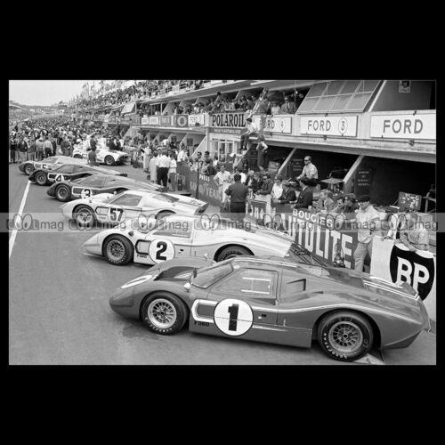 #pha.005025 Photo FORD GT 40 LE MANS RACE CAR 1966 Car Auto