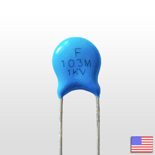 1000V .01uF High Voltage Ceramic Capacitor 103M 1KV 0.01 uf mfd 10nF 5pcs 5x