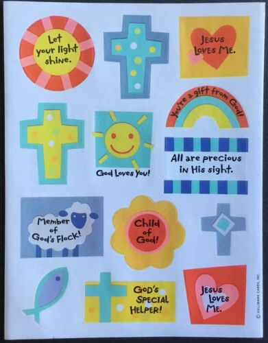 Religious Sayings Mint Condition!! Sheet of Vintage Hallmark Stickers
