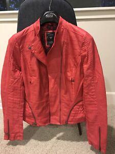 à 98 décontractée Nouvelle femme en Guess glissière similicuir pour veste n7BpPTxPt