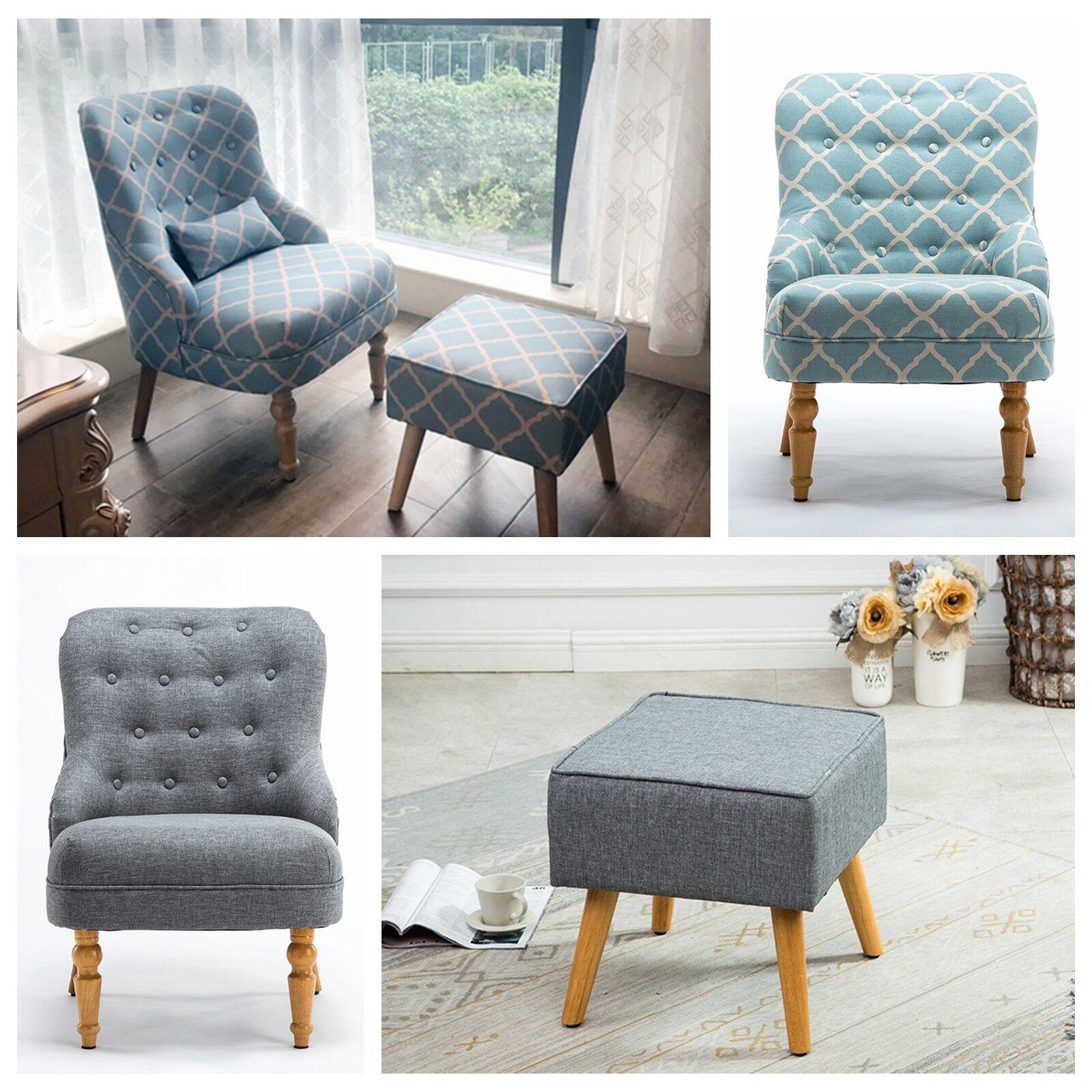 Ebay Accent Chairs: Elegant Design Fabric Leg Arm Club Chair Accent Chairs