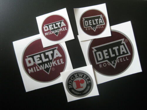 """2/"""" DELTA MILWAUKEE DECAL- for vintage Delta machinery nameplate tag badge"""