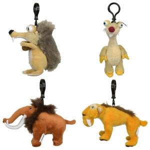 Original Ice Age 5 - Plüsch Schlüsselanhän<wbr/>ger Anhänger Stofftier 14cm Scrat Sid