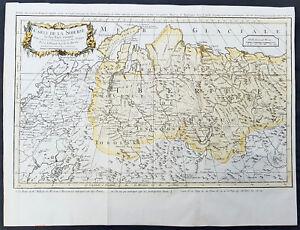 1754-Bellin-amp-Delisle-Original-Antique-Map-of-Siberia-Russia-Delisle-amp-Kirilov