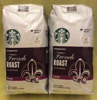 Starbucks French Roast Dark Coffee Whole Bean 40oz - 2 Big Bags