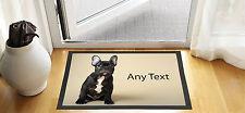 """24x16"""" personalizzato Bulldog francese di design porta d'ingresso tappetino antiscivolo Pubblicità"""